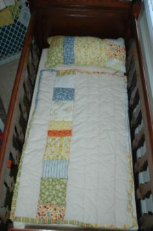 Vintage Duck Fabric Quilt for Henry the Fifth