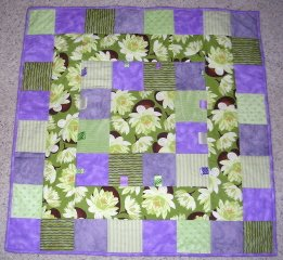 Water Lily Baby Quilt (C) Maria Klesney