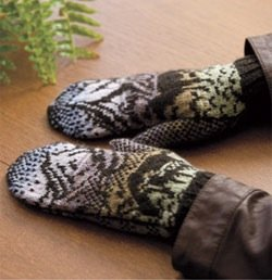 woodland winter mittens